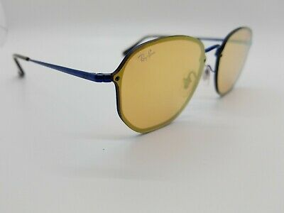 Ray Ban Blaze Hexagonal RB3579-N 9038/7J Sunglasses Eyeglasse 58mm Blue (Blue Mirrored Ray Bans)