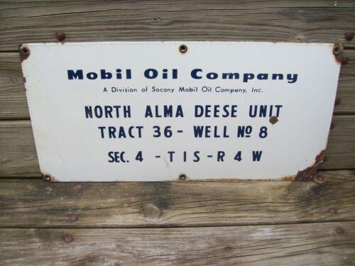 Mobile Oil Porcelain Sign Division Of Socony Mobile Oil Company Inc.