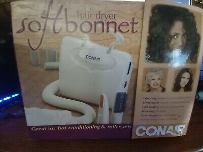 Soft Bonnet Hair Dryer Hooded Conair Styling Portable Hood Vent With Tools