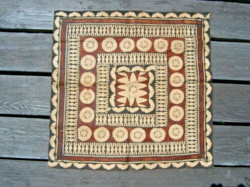 """Tapa Cloth Square Geometric Designs Approx. 22"""" by 22"""""""