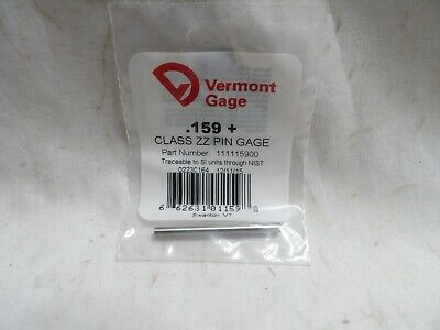 Vermont Gage .159 Class Zz Pin Gage