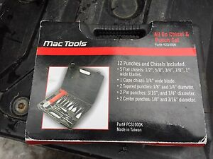 MAC Tools Chisel and Punch Set