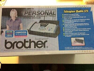 Brother Fax-575 Personal Plain Paper Fax Phone Copier - New And Sealed In Box