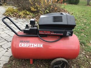 Craftsman 33 gallon air compressor 220 amp
