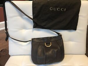 Authentic Gucci brown leather handbag