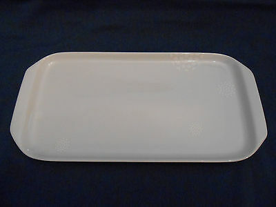 Kahla ceramic rectangular cake plate Tupperware logo serving platter 13 x -