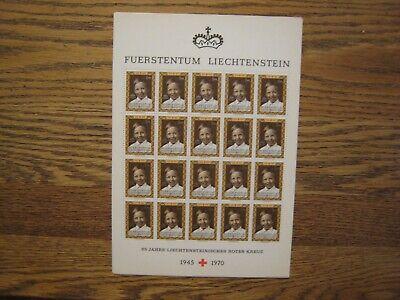 Liechtenstein 1945-1970 Rotes Kreuz lot of 5 S/S w/20v each MNH OG