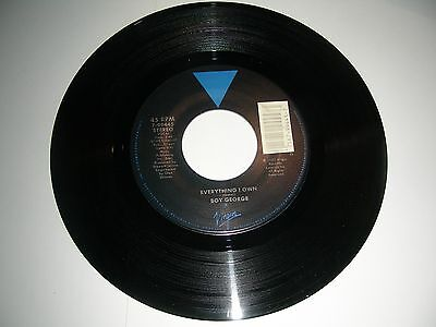 Everything 45 Rpm Records - Boy George - Everything I own  45 rpm Vinyl  Virgin Records NM 1987
