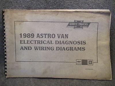 1989 Chevrolet Astro Van Electrical Diagnosis & Wiring Diagrams Guide Book M505