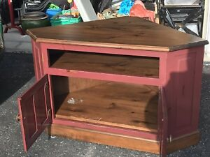 Solid Pine Tv stand, custom made PRICE REDUCTION ...