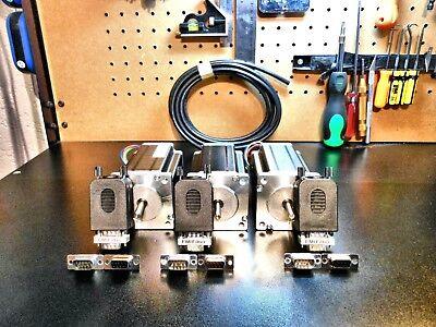 Gecko G540 3 300oz Motors 184 Double Shielded Cable Pro-solderless Connectors