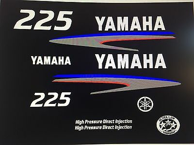 Yamaha Outboard  HPDI 225 Sticker Decals  marine vinyl  free ship  for sale  Lawrence