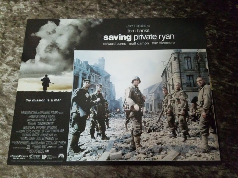 Saving Private Ryan lobby cards - Tom Hanks, Matt Damon - Set of 12