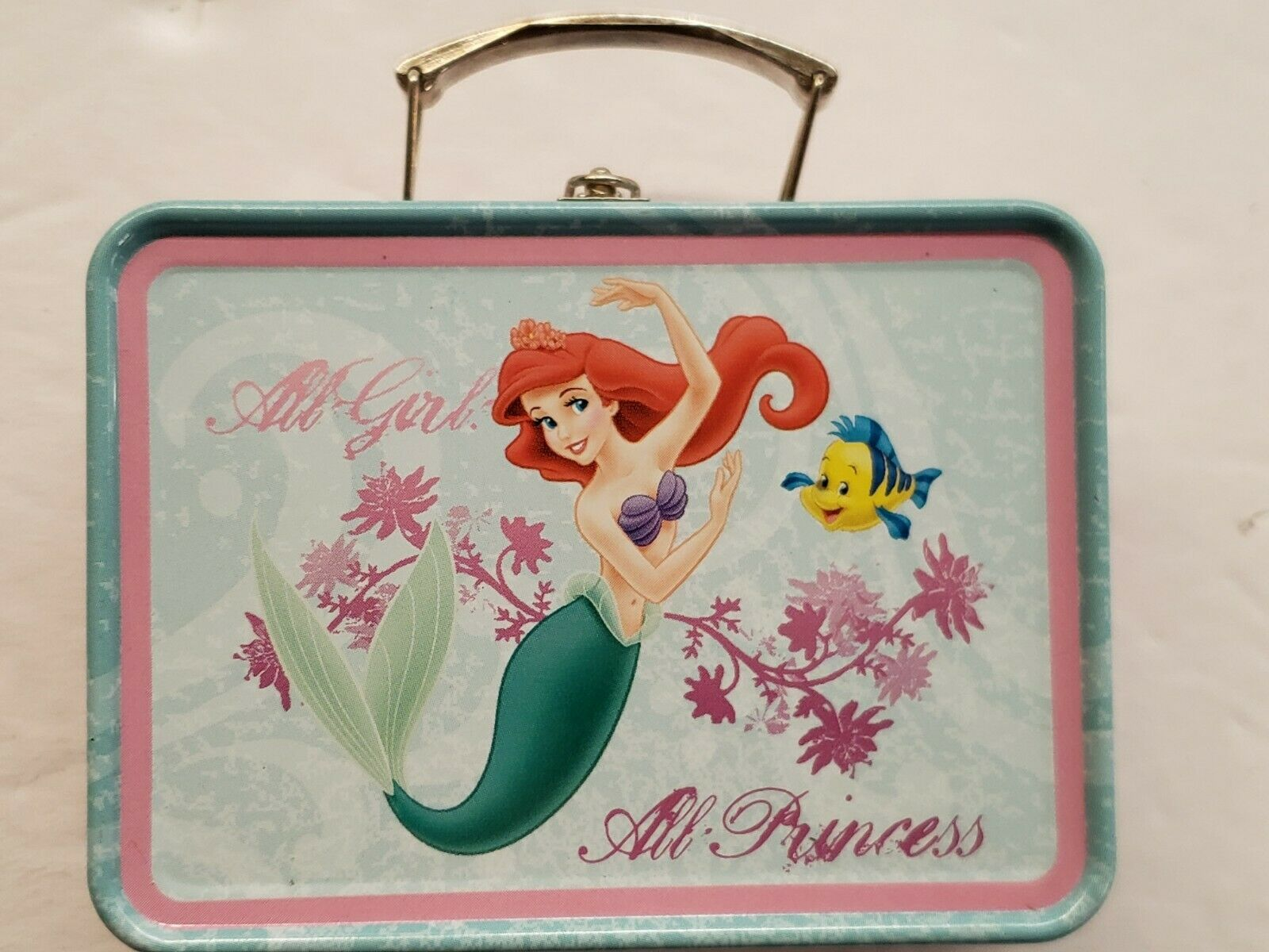 DISNEY'S Little Mermaid Tin Box - Lunch Box, New