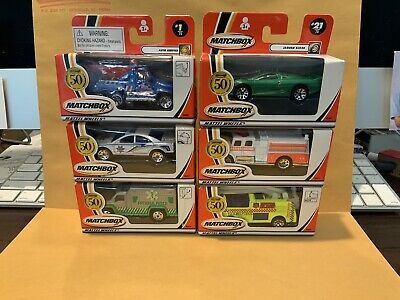 LOT OF 6 MATCHBOX 50TH ANNIVERSARY WINDOW BOX MODELS NEW