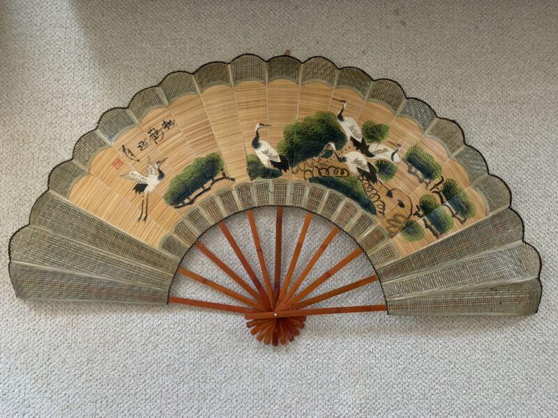 Large Decorative Asian Paper Fan