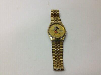 Seiko Men's Quartz Watch Vintage Disney Mickey Mouse 5H23-8A09 Sunburst Dial