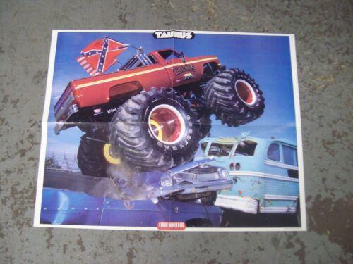 vintage 1986 Monster Trucks TAURUS  21.25 x 16.5 poster