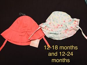Gymboree hats 12-24 months