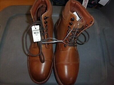 Men's Brand New Lace-up Express boots - size 9 Brown (B251)