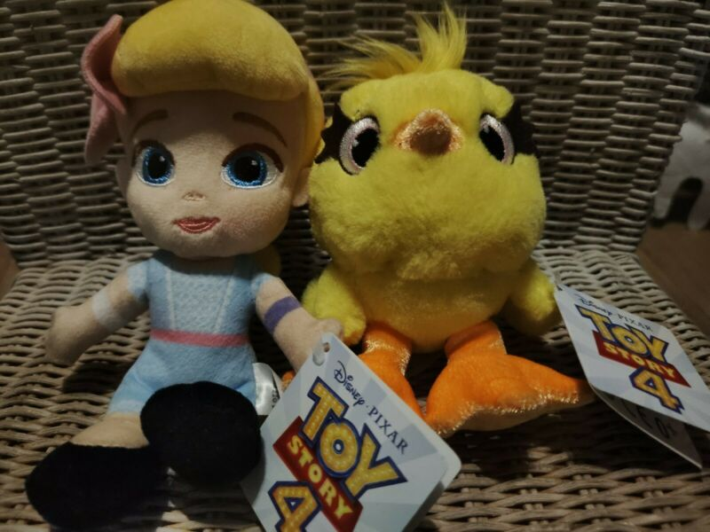 2X+Disney+Pixar+Toy+Story+4+Small+Plush+Soft+Toys+BO+PEEP+%26+DUCKY+NEW+WITH+TAGS