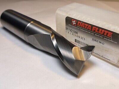 Data Flute Carbide Endmill 1 X 1 X 1.25 Loc X 5 Oal X 2.625 Lbs Hvm21000