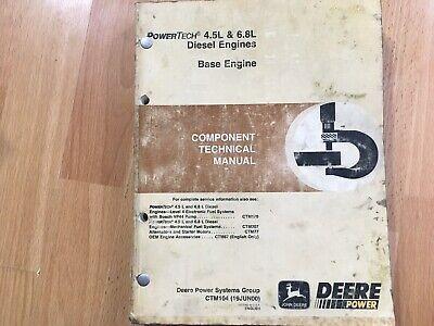 John Deere 4.5l 6.8l Diesel Engines Component Technical Repair Manual Ctm104