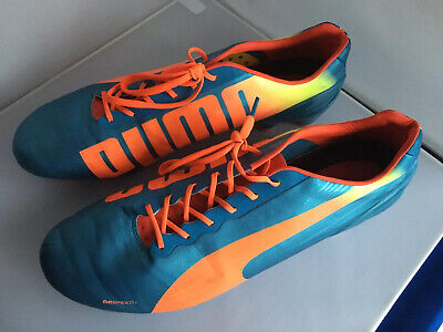 Puma Evospeed Football Boots, UK12 Eur47 Light Weight - Blue / Orange