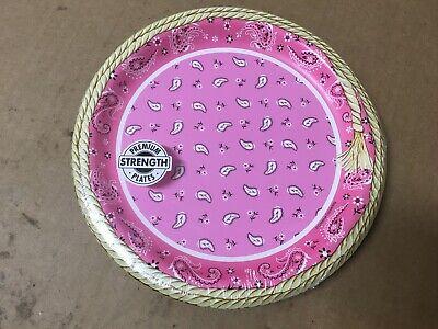Pink Bandana Cowgirl Plates, 8pk SHELF PULL - Pink Bandana Plates