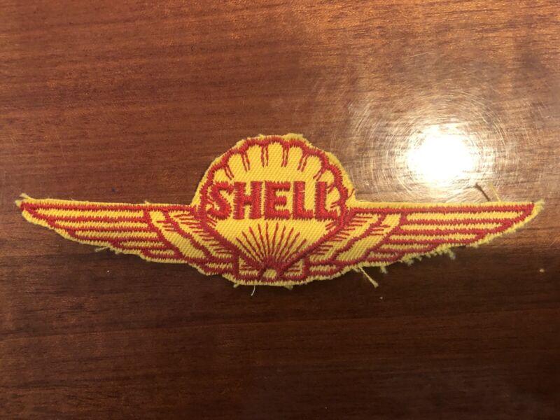 "SHELL AVIATION-AEROSHELL Embroidered Sew-On Uniform-Jacket Patch 5"". RJB"