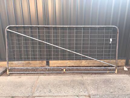 Galvanised steel Gate 3m wide
