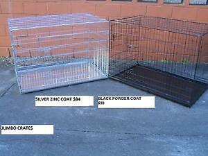 NEW JUMBO Collapsible Metal Dog Puppy Cage Crate with METAL TRAY Kingston Logan Area Preview