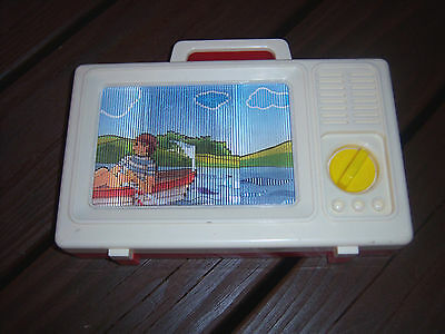 "ADORALBE Vintage Fisher-Price?? Tune TV ""Row Your Boat"" Music Toy"