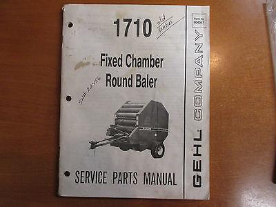 Gehl 1710 Round Hay Baler Parts Manual