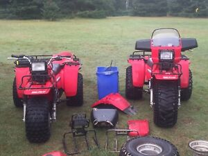 1985 Big red 250 (one on left)