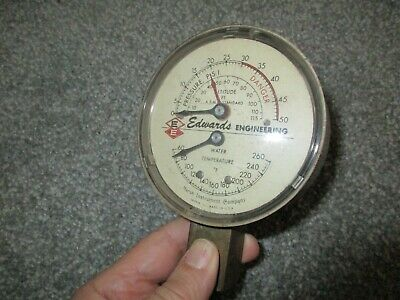 Vintage Altitude Water Temp Gauge - Marsh Instrument Co - Edwards Engineering
