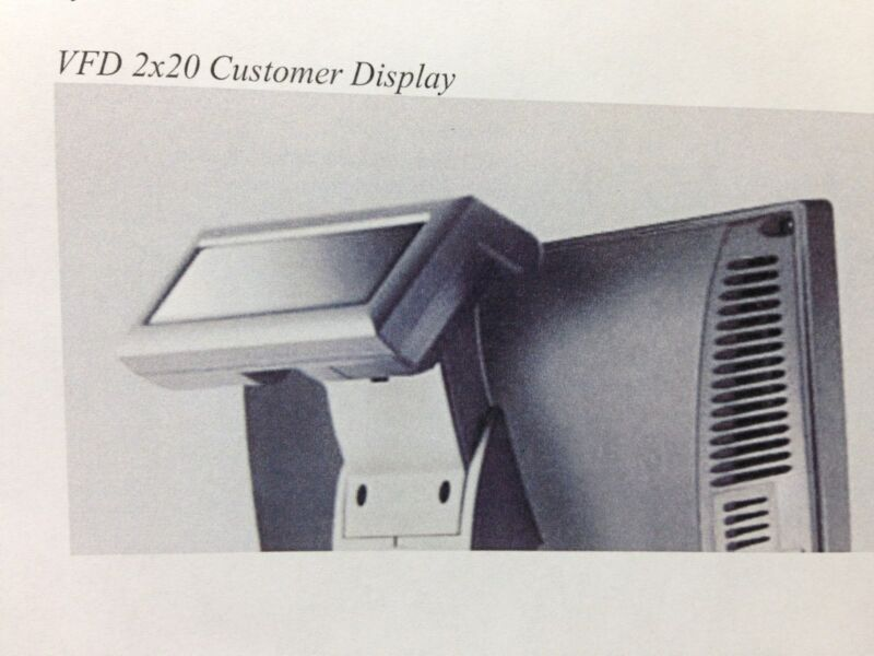 J2 Retail Systems Customer VFD 2 x 20 Display for Models 580, 615, 630, and 680
