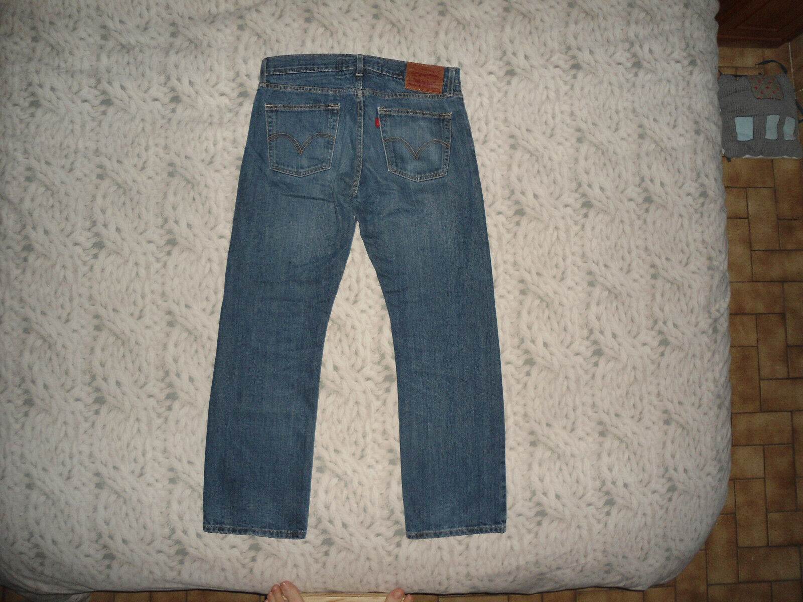 Jean levi's 514 slim straight homme taille 44cm l30 superbe !