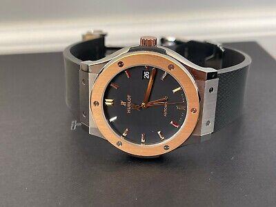 Hublot Classic Fusion Black Dial Rose Gold Titanium 45MM Watch 511.NO.1181.RX