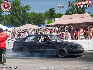 Civic h2b racecar plaquer quebec