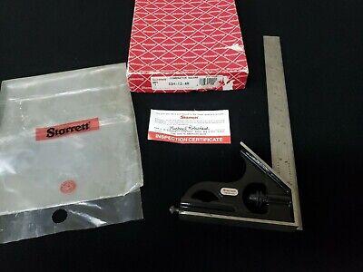 Starrett 33h-12-4r Combination Square With Original Casebox Good Pre-owned Cond