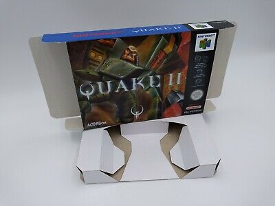 Quake II - box reproduction and insert - N64 - Pal or NTSC -Thick cardboard.