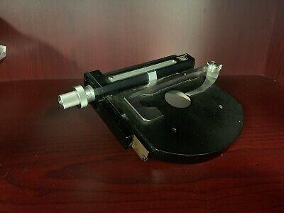 Carl Zeiss Microscope Parts Stage Micrometer Specimen Holder Vintage