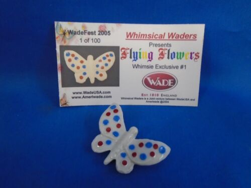 2004 Wade Whimsies Flying Flowers Red White Blue Butterfly LE 100 Wimsical Wader