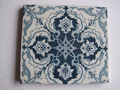 ANTIQUE VICTORIAN SHERWOOD & COTTON BLUE AND WHITE AESTHETIC PRINT TILE -