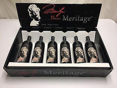 2010 Marilyn Monroe Meritage 6 bottle set Napa Valley Red Wine Full Bottle