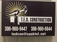 TED CONSTRUCTION now booking your spring renos