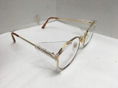 Nos Wilson Retrospec 55mm Clear Uv Safety Glasses Protective Eyewear Side Shield