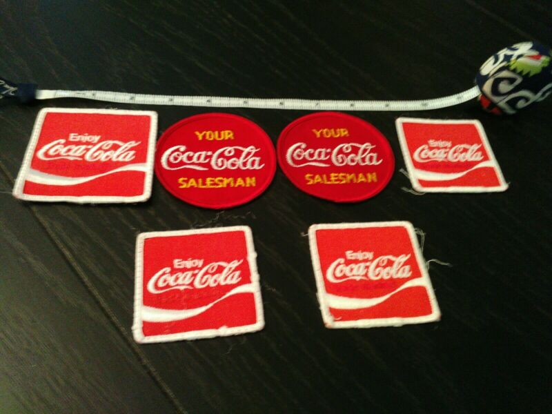 Lot Of 6 Vtg Coca-Cola salesmen drivers employee Patches 1950