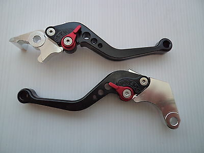 Honda CBR125R Adjustable Brake & Clutch CNC Levers BLACK / SILVER 2004 - 2016